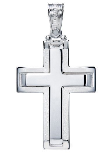 White Gold Cross K14
