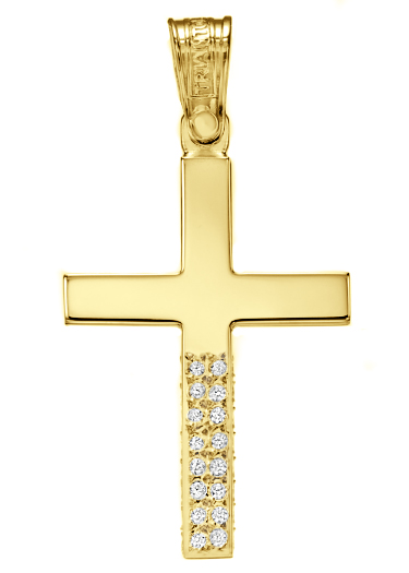 Yellow Gold Cross K14